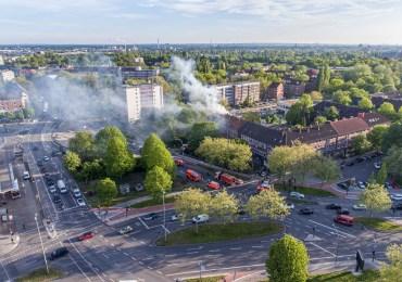 Dachstuhlbrand in Horn - Feuerwehr im Großeinsatz