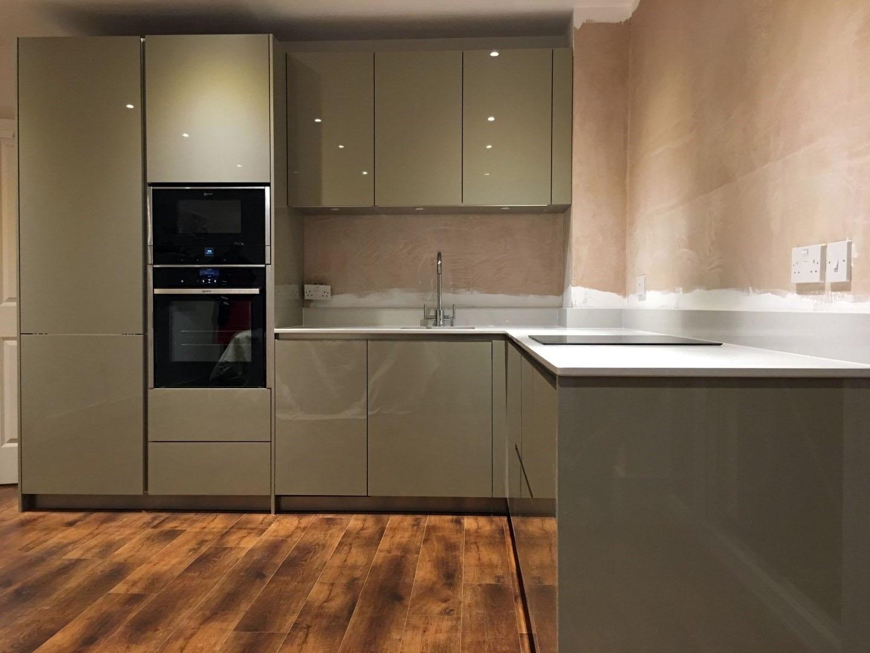 Green High Gloss Handleless Berkhampstead Blax Kitchens Ltd