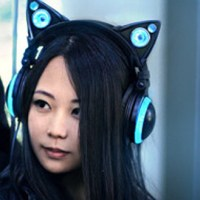 Glowing headphones that look like cat ears, by Axent Wear