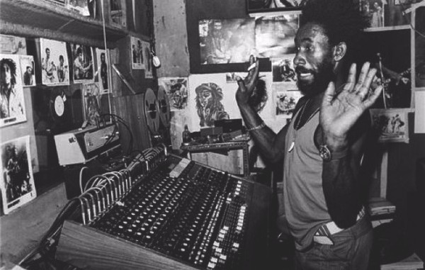 "Lee ""Scratch"" Perry at the controls"