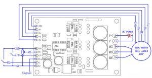 Arduino 24V BLDC Motor Driver Hall Effect High Efficiency PWM Speed Control