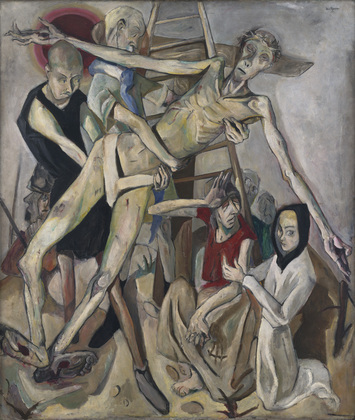 Kreuzabnahme (Descent from the Cross), by Max Beckmann, 1917. © 2016 Artists Rights Society (ARS), New York / VG Bild-Kunst, Bonn