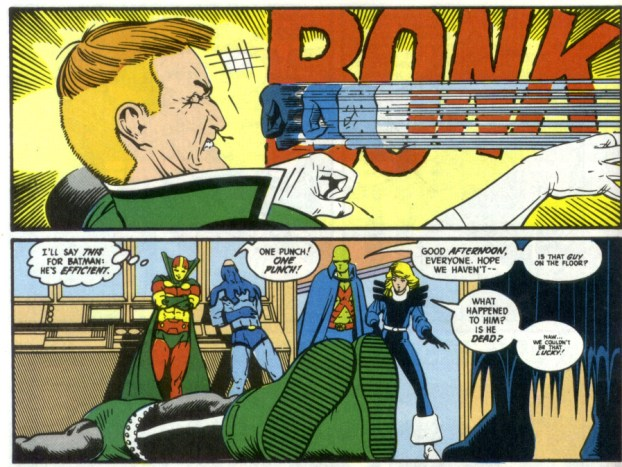 Image result for batman punches out guy gardner