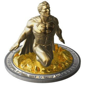 superman canadian 3d coin