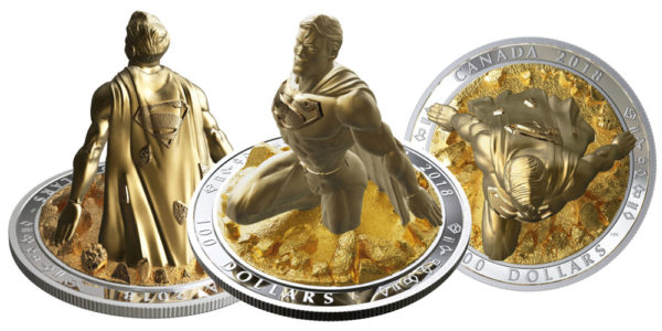 superman canadian coin 3d