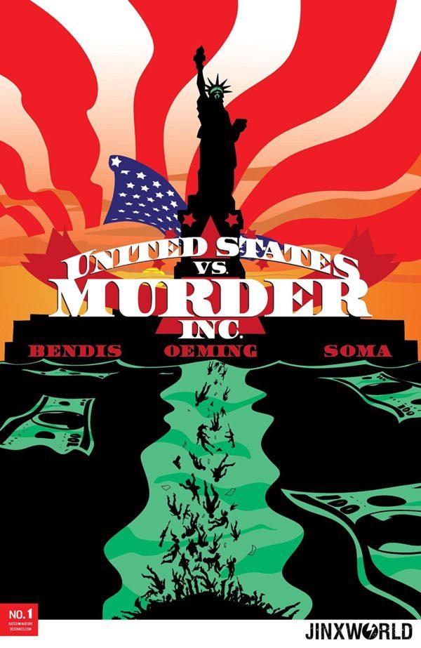 Capa de United States. vs. Murder Inc. #1 por Michael Avon Oeming.