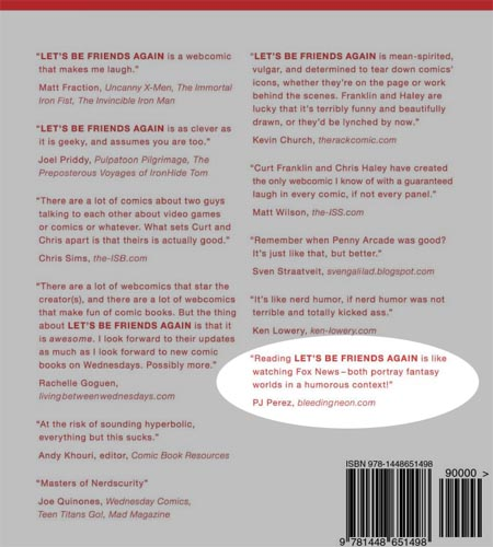 Let's Be Friends Again Back Cover Go!