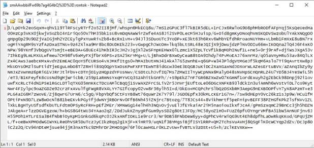 Base64 codificado archivo cifrado
