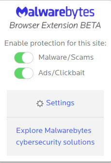 extension-window Malwarebytes Browser Extension Blocks Malware, Scams, Ads, & Trackers