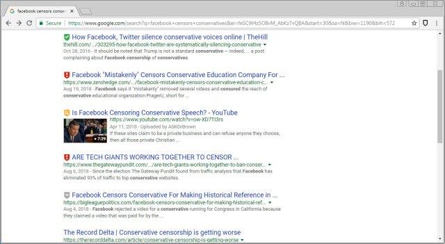 Resultados de búsqueda de Google con calificaciones