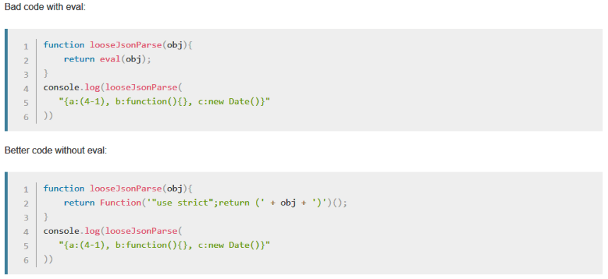 Coding without eval()
