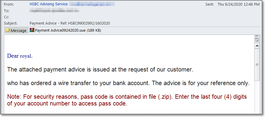 phishing email juniper