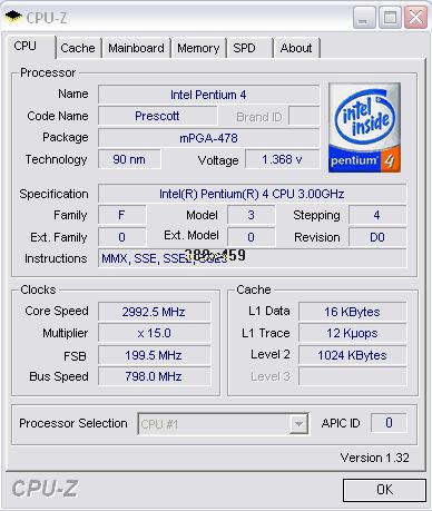 CPU-Z first screen