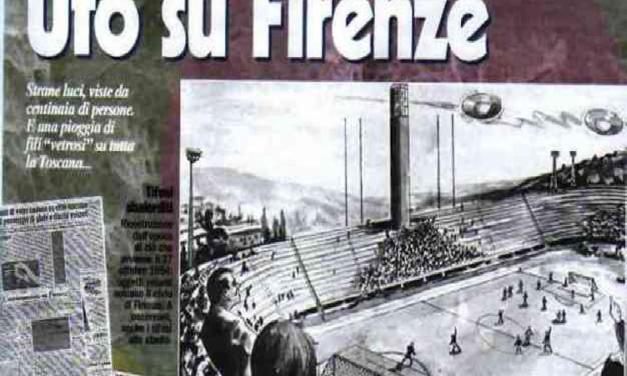 Florencie 1954: Přerušilo fotbalový zápas UFO, nebo pavouci?