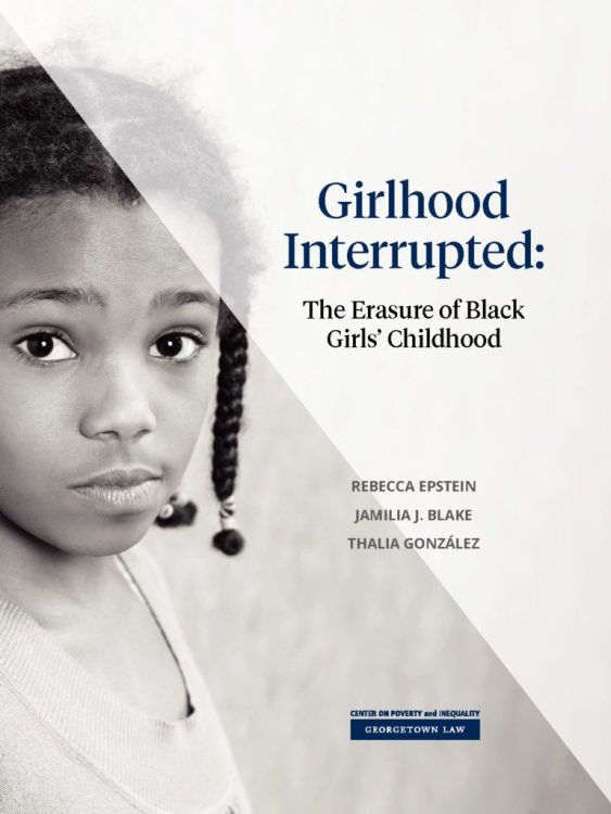 This groundbreaking study by the Georgetown Law Center on Poverty and Inequality provides—for the first time— data showing that adults view Black girls as less innocent and more adult-like than their white peers, especially in the age range of 5–14.