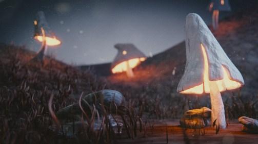 Mushroom Scene by dumptherain