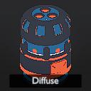 Bake mode: diffuse