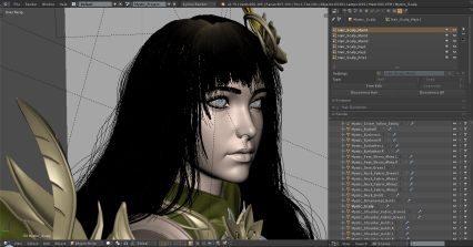For this project I have six layers of hair particle.