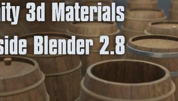Export from EEVEE to Unity - BlenderNation