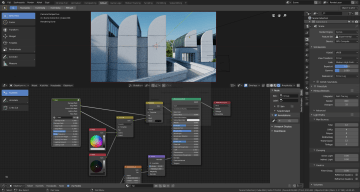 The shader editor is shown here.
