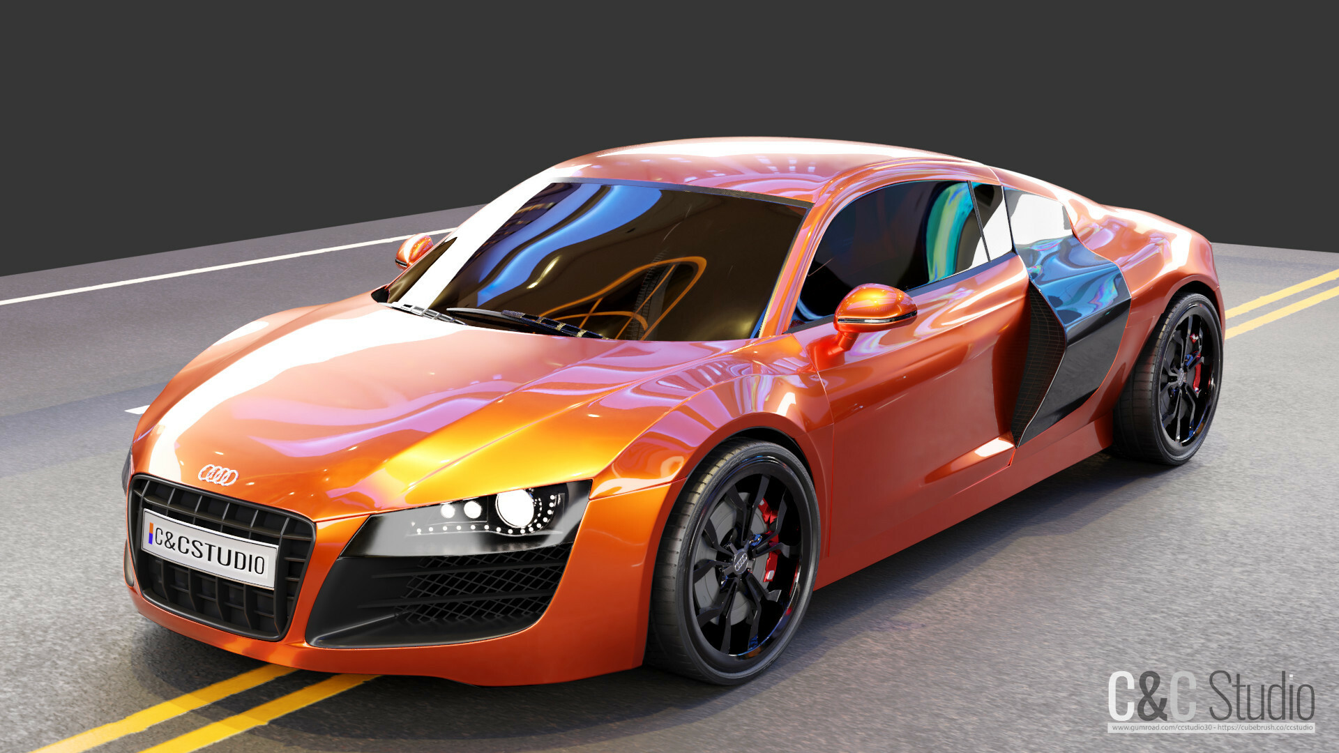 Audi R8 Model Free Download (Cycles & Eevee) - BlenderNation