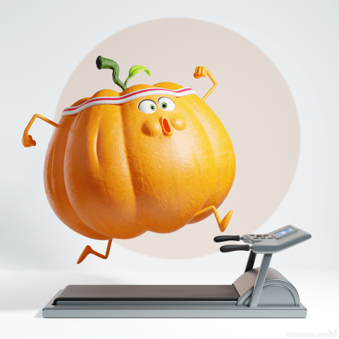 Getting in shape for Halloween (concept: Sébastien Le Divenah), created using a mix of polygon subdivision modeling and Sculpt Mode tools, rendered with good ol' Cycles.