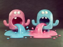 metin-seven_stylized-artistic-3d-illustrator_fun-cute-monsters-paint-colors-splash