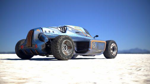 Racing car by Povilas