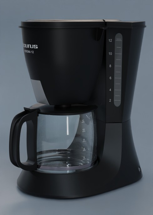 Coffee maker, Blender 2.83, Cycles 32 samples and AI denoiser by abel ernesto