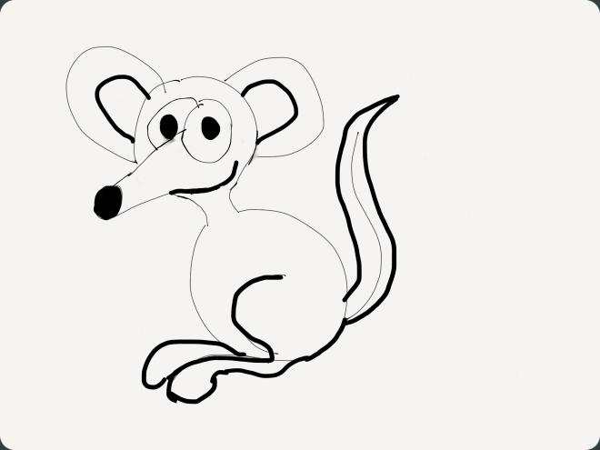 Maus/Känguru Skizze