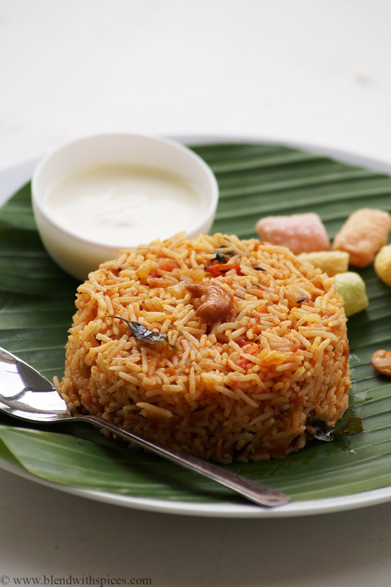 Tomato Rice Recipe - South Indian Style Tomato Rice Recipe - Tomato Recipes