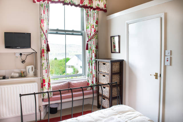 The standard double room chosen by this family was Claife Heights, situated on the first floor of Blenheim Lodge with views of Lake Windermere and the fells.