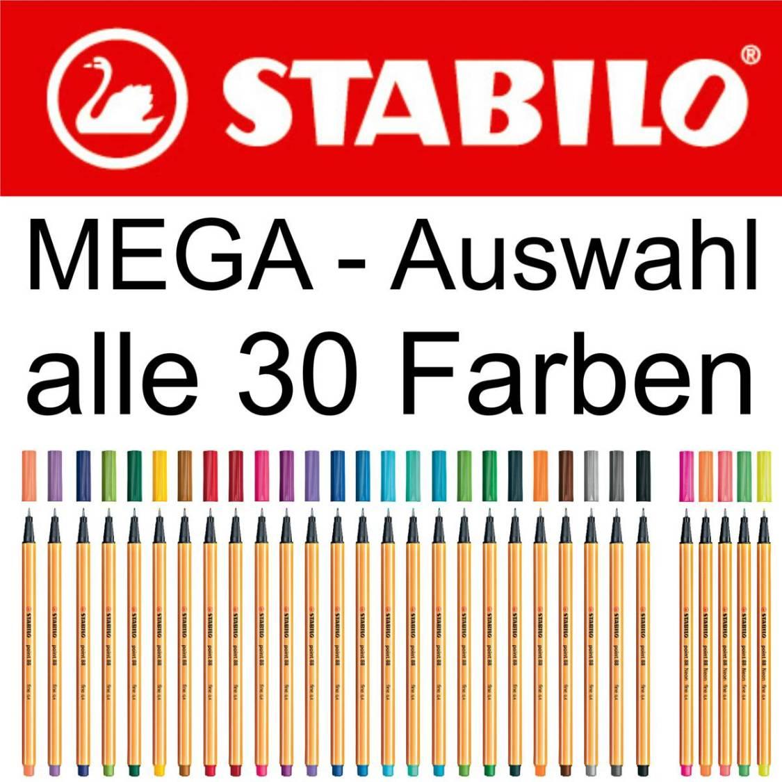 STABILO Fineliner point 88 Einzelstift alle 30 Farben [Farbe wählbar]