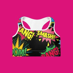 Blerd™ Comic Pop Art Sports Bra