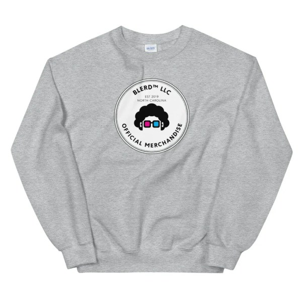 Blerd Official Merchandise Unisex Sweatshirt Grey