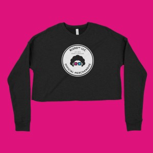 blerd official merchandise crop sweatshirt