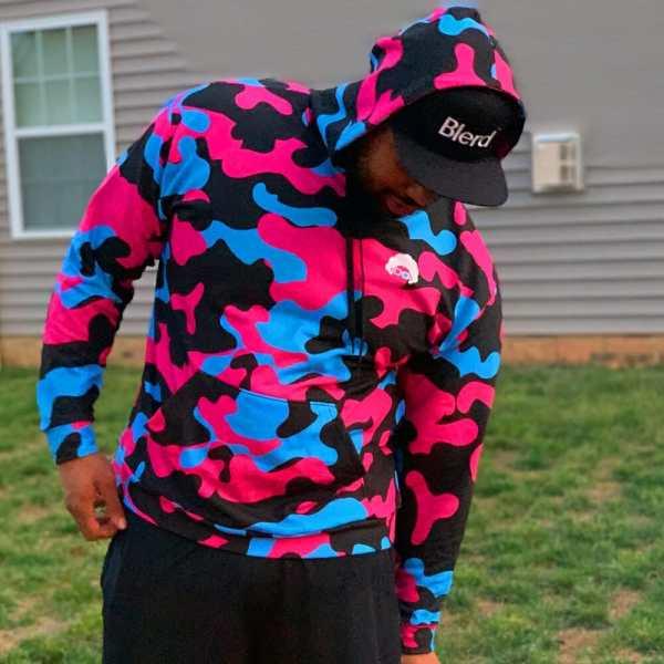 blerd camo hoodie