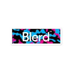 blerd sticker camo