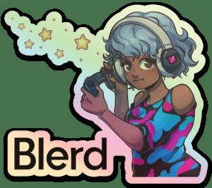 Blerd Gamer Girl Sticker