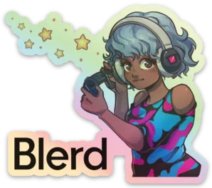 Blerd Gamer Girl Sticker
