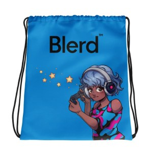Blerd Gamer Girl Drawstring bag