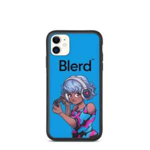 Blerd Gamer Girl Biodegradable iPhone case