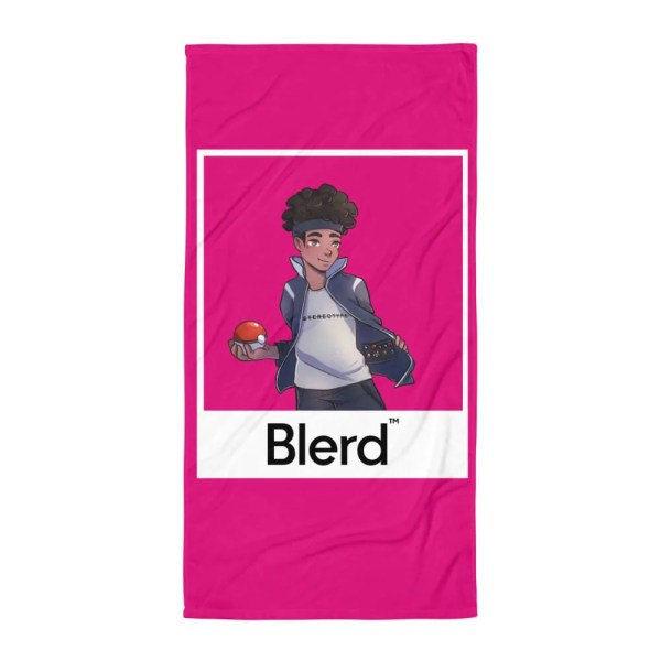 Blerd Poke Trainer Beach Towel