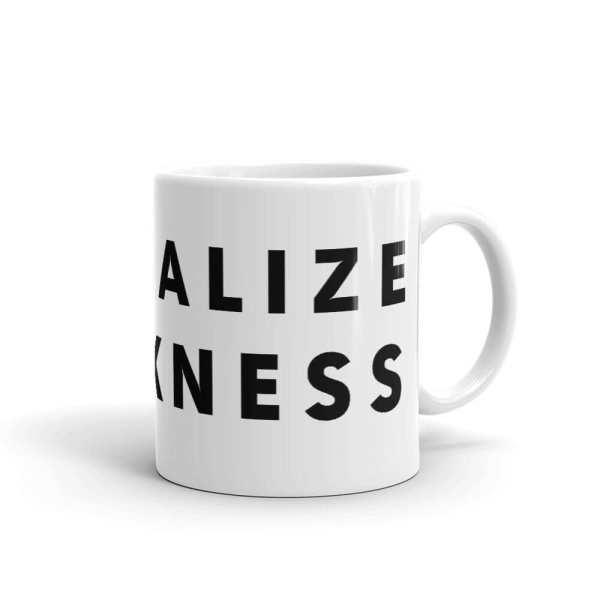 Normalize Blackness Mug Tilted Right