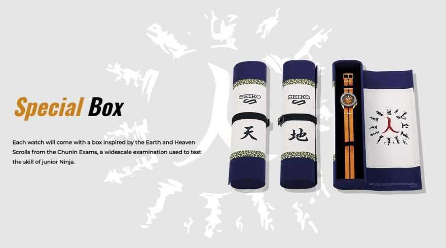 Naruto Seiko Watch Collection Box