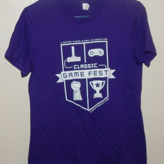 Classic Game Fest shirt- This year they had PURPLE!!! According to my friends and DJ008, purple is my unofficial favorite color.
