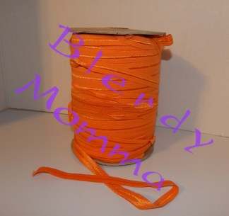 Orange foldover elastic