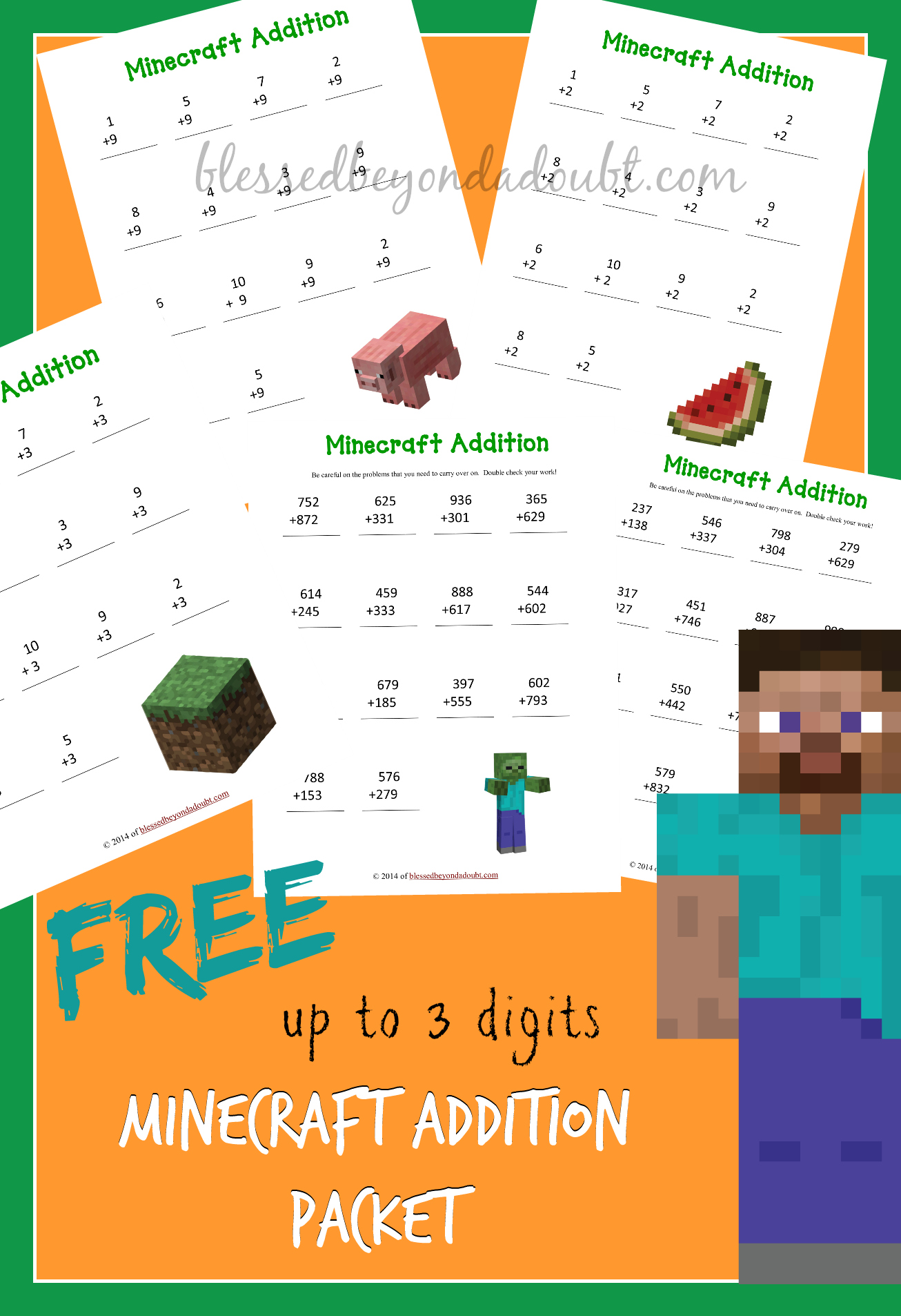 Free Addition Worksheets Packet