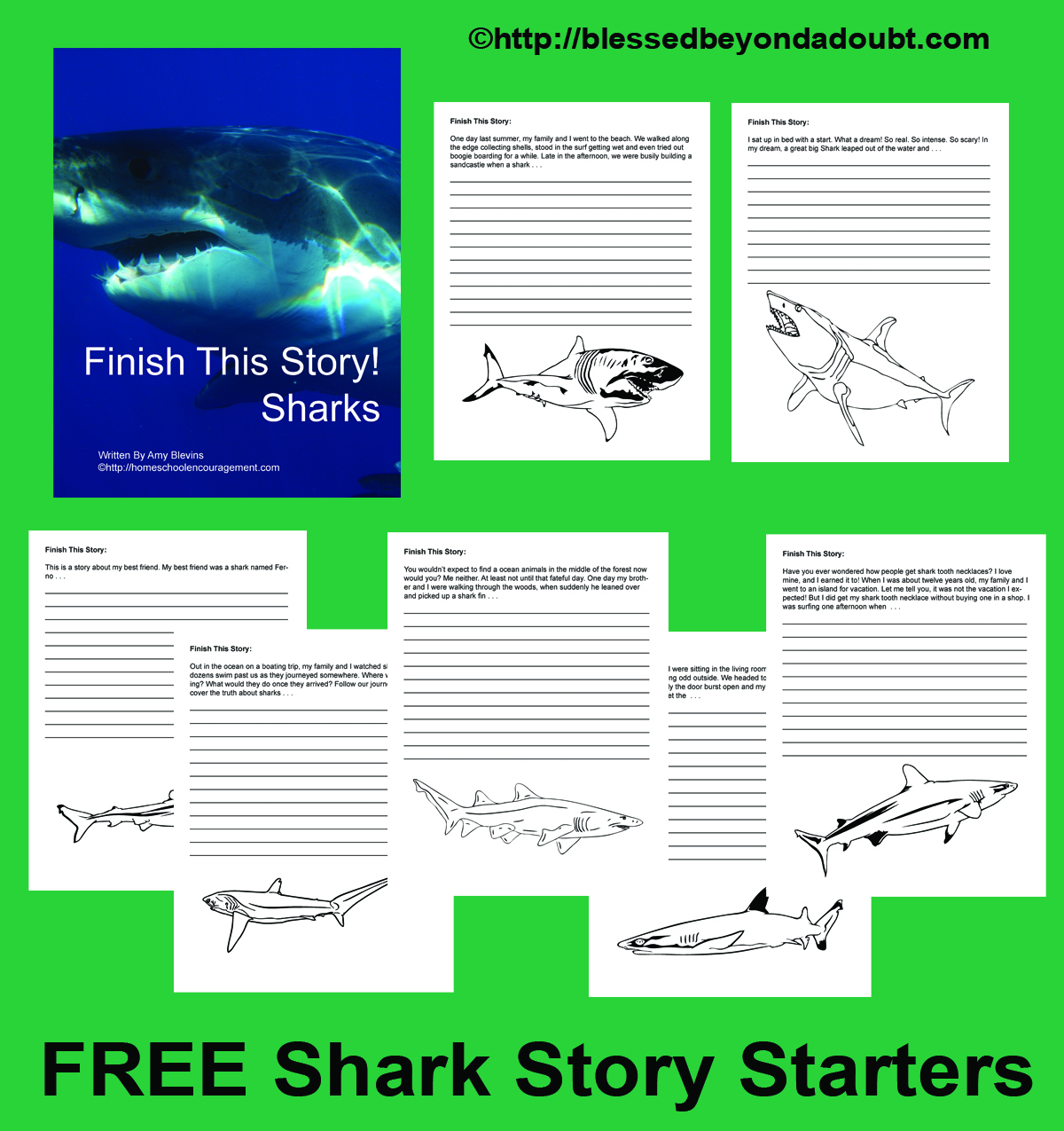 Shark Story Starters And Fun Shark Week Resources