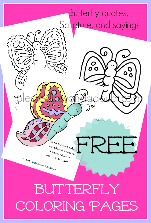 have to admit i love how these butterfly coloring sheets turned out